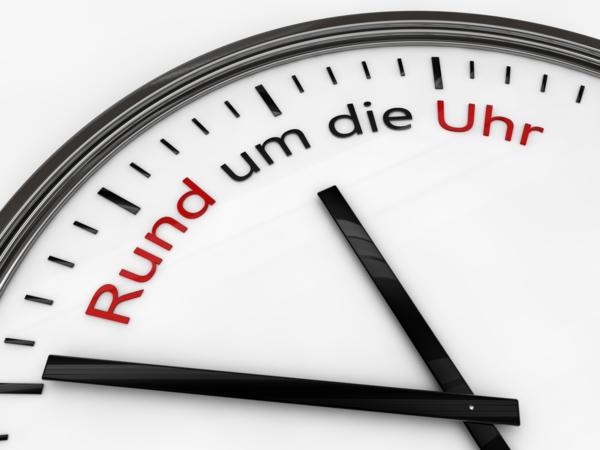 Uhrzeiger 24h rund um die Uhr
